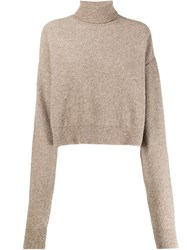 Andrea Ya'aqov Plain Turtleneck Jumper Neutrals