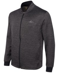 Greg Norman For Tasso Elba Hydrotech Zip Fleece Jacket Only At Macy's Charcoal Heather