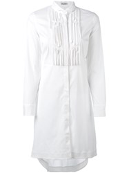 Brunello Cucinelli Long Length Shirt Women Cotton Polyamide Spandex Elastane S White