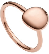 Monica Vinader Nura 18Ct Rose Gold Vermeil Stacking Ring