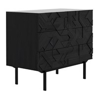 Ethnicraft Graphic Chest Of Drawers Teak Black