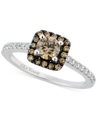 Le Vian Chocolate And White Diamond Ring In 14K White Gold 3 4 Ct. T.W.