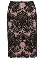 Gina Bacconi Baroque Sequin Skirt Mellow