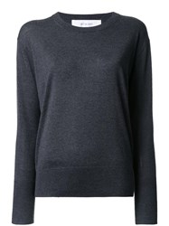 Le Ciel Bleu Crew Neck Jumper Grey