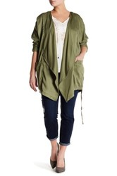 Jessica Simpson Embroidered Jacket Plus Size Green