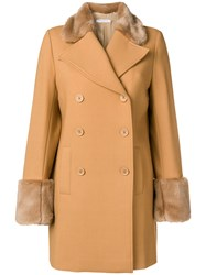 Vivetta Double Breasted Coat Brown
