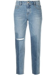 Sjyp Washed Straight Jeans Blue