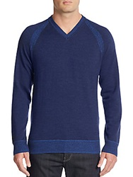 Robert Graham Classic Fit Cottage Wool And Cashmere Sweater Dark Navy