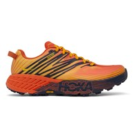 Hoka One One Red And Yellow Speedgoat 4 Gtx Sneakers