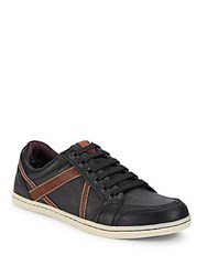 Ben Sherman Textured Lace Up Sneakers Black