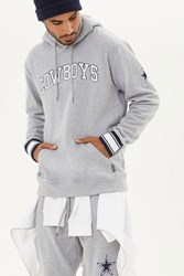 Forever 21 Nfl Cowboys Fleece Hoodie Grey White