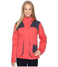 Columbia South Canyon Hooded Jacket Sunset Red India Ink Women's Coat