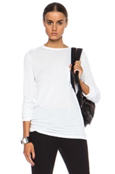 T By Alexander Wang Classic Rayon Tee With Pocket In White