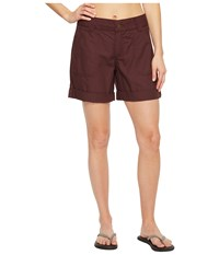 Carhartt Relaxed Fit El Paso Shorts Deep Wine Women's Shorts Burgundy