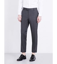 The Kooples Slim Fit Tapered Wool Trousers Gry01