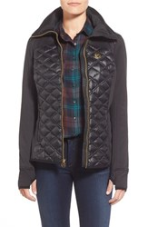 Women's Michael Michael Kors Quilted Mixed Media Down Jacket