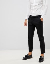 Selected Homme Suit Trouser With Stretch In Slim Fit Black
