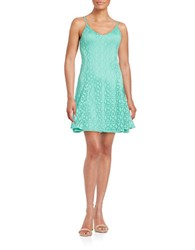 Design Lab Lord And Taylor Mesh Overlay Shift Dress Mint
