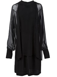 3.1 Phillip Lim Dolman Sleeve Shift Dress Black