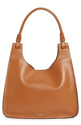 Lodis Blair Collection Dara Italian Leather Hobo Brown Toffee Taupe