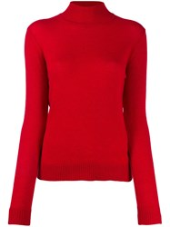 Theory Slim Fit Cashmere Jumper Red