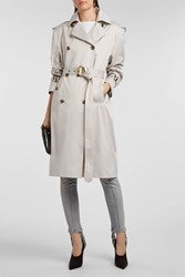 Magda Butrym Ulm Cotton And Silk Blend Trench Coat Grey