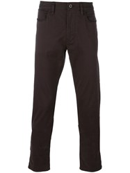 Armani Jeans Five Pocket Chinos Brown