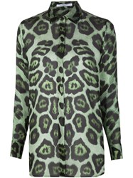 Givenchy Sheer Leopard Print Blouse