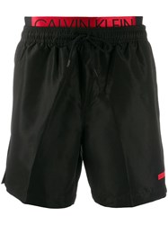 Calvin Klein Logo Waistband Swim Shorts Black