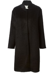 Forte Forte Fuzzy Single Breasted Coat Black