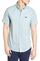 Rvca Men's 'That'll Do' Slim Fit Short Sleeve Oxford Shirt Cosmos