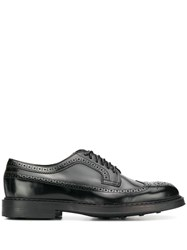 Doucal's Brogue Style Lace Up Shoes Black