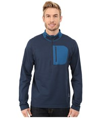 Mountain Hardwear Cragger 1 2 Zip Top Hardwear Navy Men's Long Sleeve Pullover Blue