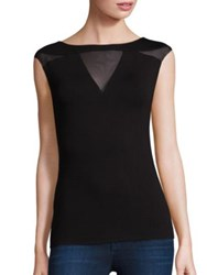 Bailey 44 Courtney Sleeveless Tri Insets Top Black