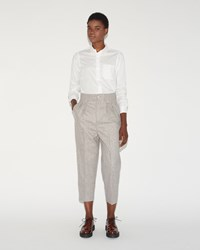 Chimala Wool Cropped Trouser Light Grey