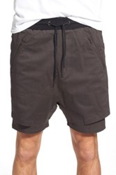 Thing Thing 'The .Com' Layered Shorts Gray