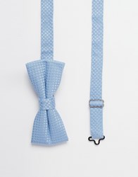 Noose And Monkey Textured Bow Tie Blue