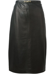 Celine Vintage Midi Pencil Skirt Black
