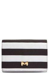 Ted Baker London Pier Stripe Clutch Black