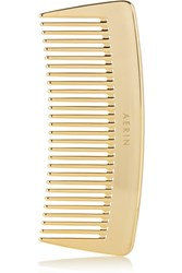 Aerin Beauty Travel Gold Tone Comb One Size