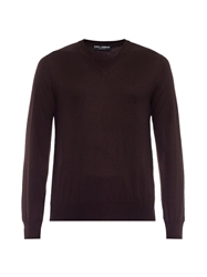 Dolce And Gabbana V Neck Cashmere Sweater