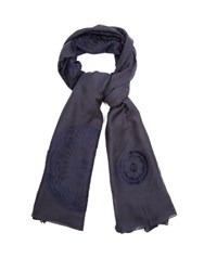 Chloe Fil Coupe Circles Scarf Navy