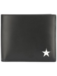 Givenchy Star Logo Plaque Billfold Wallet Black