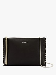 Ted Baker Tesssa Leather Evening Bag Black