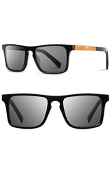 Men's Shwood 'Govy' 52Mm Wood Sunglasses Black Maple Grey