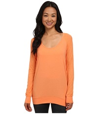 Lole Orchid Top Melon Women's Long Sleeve Pullover Orange