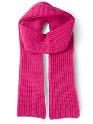 Cedric Charlier Knit Scarf Pink And Purple