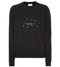 Saint Laurent Printed Cotton Sweatshirt Black