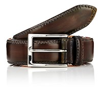 Harris Men's Burnished Smooth Leather Belt Grey