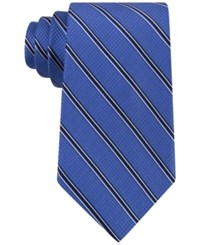 Michael Kors Men's Houndstooth Stripe Tie Blue